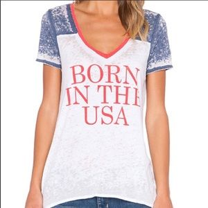 Chaser Born in The USA Top Shirt Burnout S